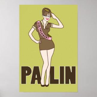 Poster modelo de Palin