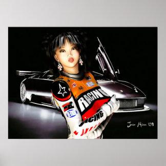 Poster modelo de Racecar