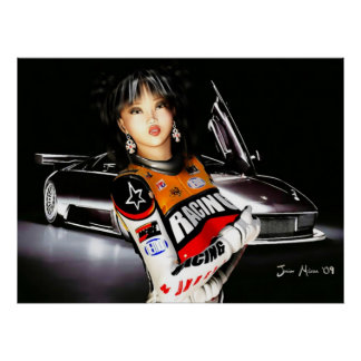 Poster modelo de Racecar Póster