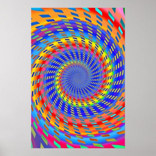 Poster: Modelo espiral psicodélico Póster
