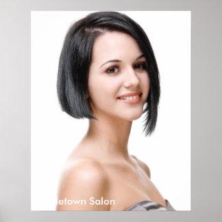 Poster modelo femenino del salón de pelo