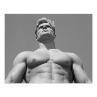 Poster modelo masculino de Fitnes para la pared de