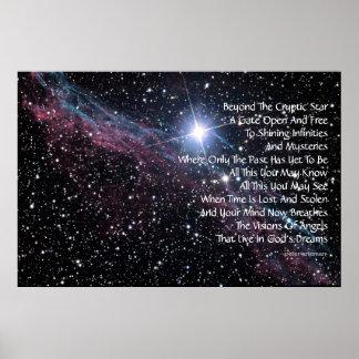 Poster moderno de la poesía del universo infinito