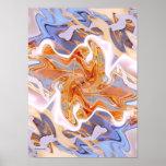 Poster moderno del arte abstracto de la puesta del