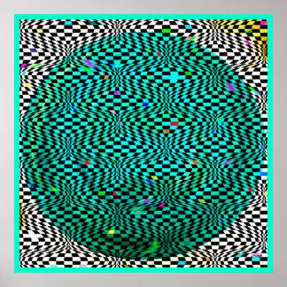 Poster moderno del arte abstracto del mundo óptico