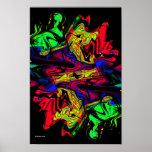 Poster moderno del arte abstracto del retroceso