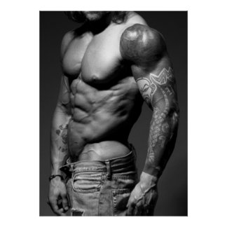 Poster moderno del Bodybuilder