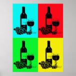 poster moderno del vino del Estallido-arte