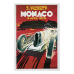 Poster Mónaco 1930 del vintage