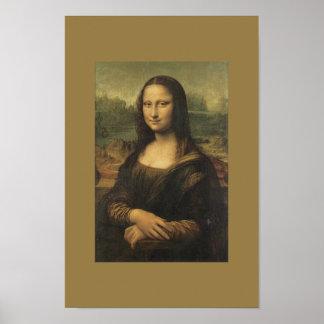 Poster Monalisa del arte del vintage
