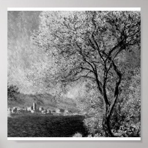 Poster-Monochrome-Monet-Antibes Poster