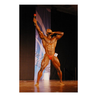 Poster, Morris Mendez, Bodybuilder with a rose