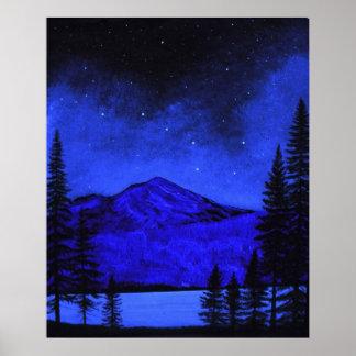 Poster Mount Shasta In Starlight