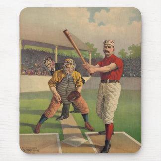 Poster Mousepad del béisbol del vintage