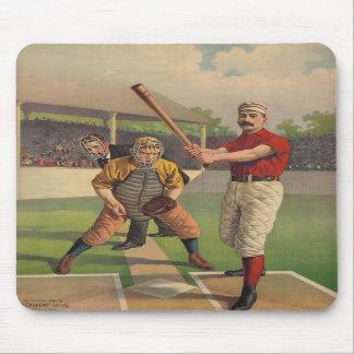 Poster Mousepad del béisbol del vintage Tapetes De Ratón