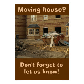 Poster: Moving house Poster