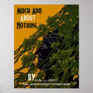 Poster mucho ruido sobre nada William Shakespeare