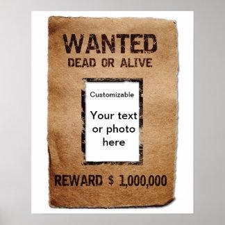 Poster muerto o vivo querido