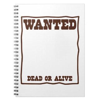 Poster muerto o vivo QUERIDO con el fondo en Libro De Apuntes Con Espiral
