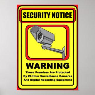 Poster/muestra amonestadores de la seguridad de la póster