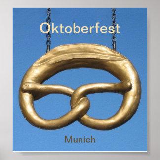 Poster: Muestra Munich del pretzel de Oktoberfest