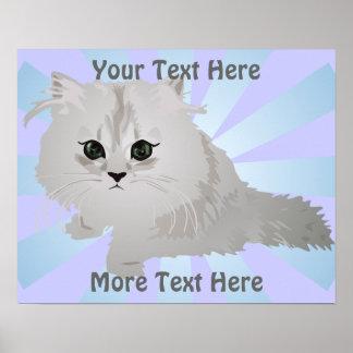 Poster mullido del gatito