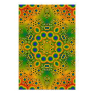 Poster: Multi-Color Fractal: Vector Artwork Poster