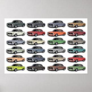Poster multi del coche de BMW 2002