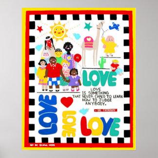Poster multicultural sobre amor