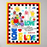 Poster multicultural sobre amor póster