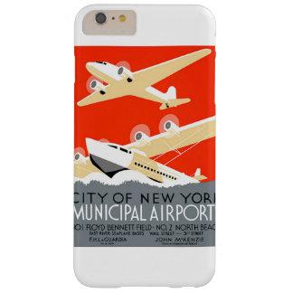 Poster municipal del vintage de los aeropuertos de funda para iPhone 6 plus barely there
