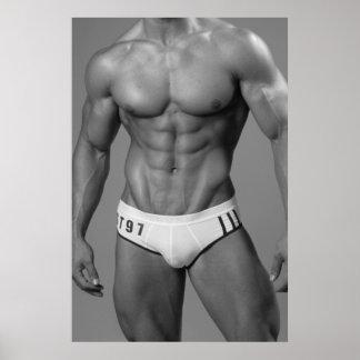 Poster muscular del nadador