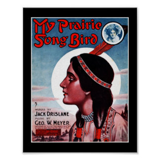Poster Music Covers My Prairie Song Bird 1909