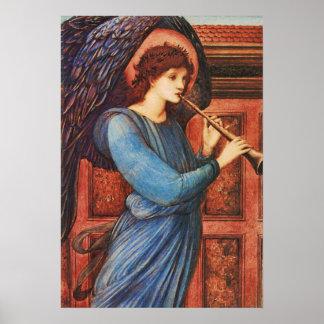 Poster musical inspirado de la bella arte del ánge