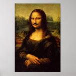 Poster Mustachioed de Mona Lisa