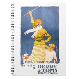 Poster muy raro del vintage de Derry y de Toms Notebook
