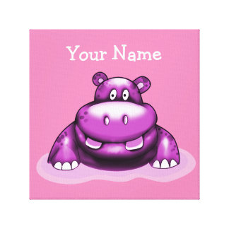 Poster My Hippo Purple Canvas Print