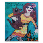POSTER-MY HUMAN IS A RESCUE