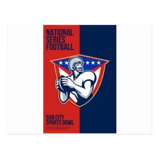 Poster nacional americano del fútbol de la serie tarjeta postal