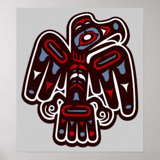 Poster nativo de Thunderbird del Haida de América