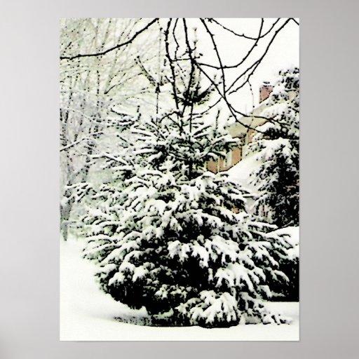 Poster natural del árbol de navidad