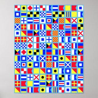 Poster náutico de la bandera