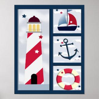 Poster náutico del diseño de la navegación