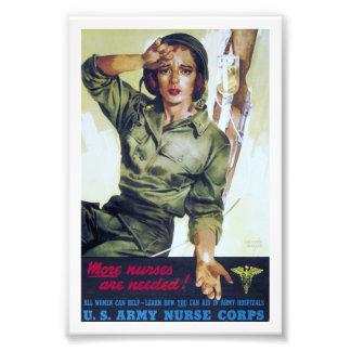 Poster necesario del reclutamiento de las enfermer impresión fotográfica