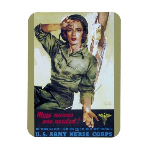 Poster necesario del reclutamiento de las enfermer iman de vinilo