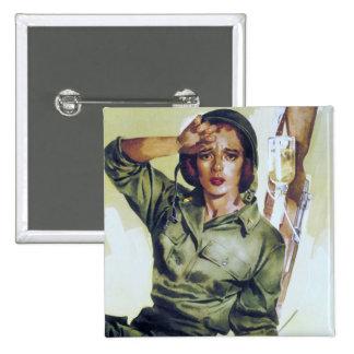 Poster necesario del reclutamiento de las enfermer pin