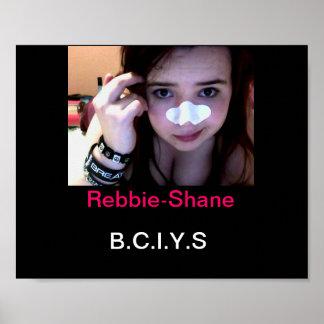 Poster negro B.C.I.Y.S de Rebbie-Shane