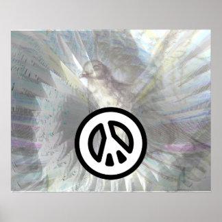 Poster negro blanco del deslumbramiento de las ala
