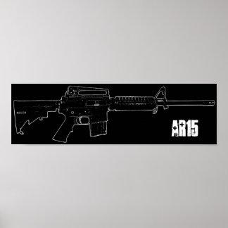 poster negro de AR 15