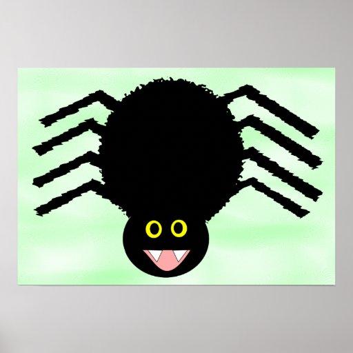 Poster negro de la araña